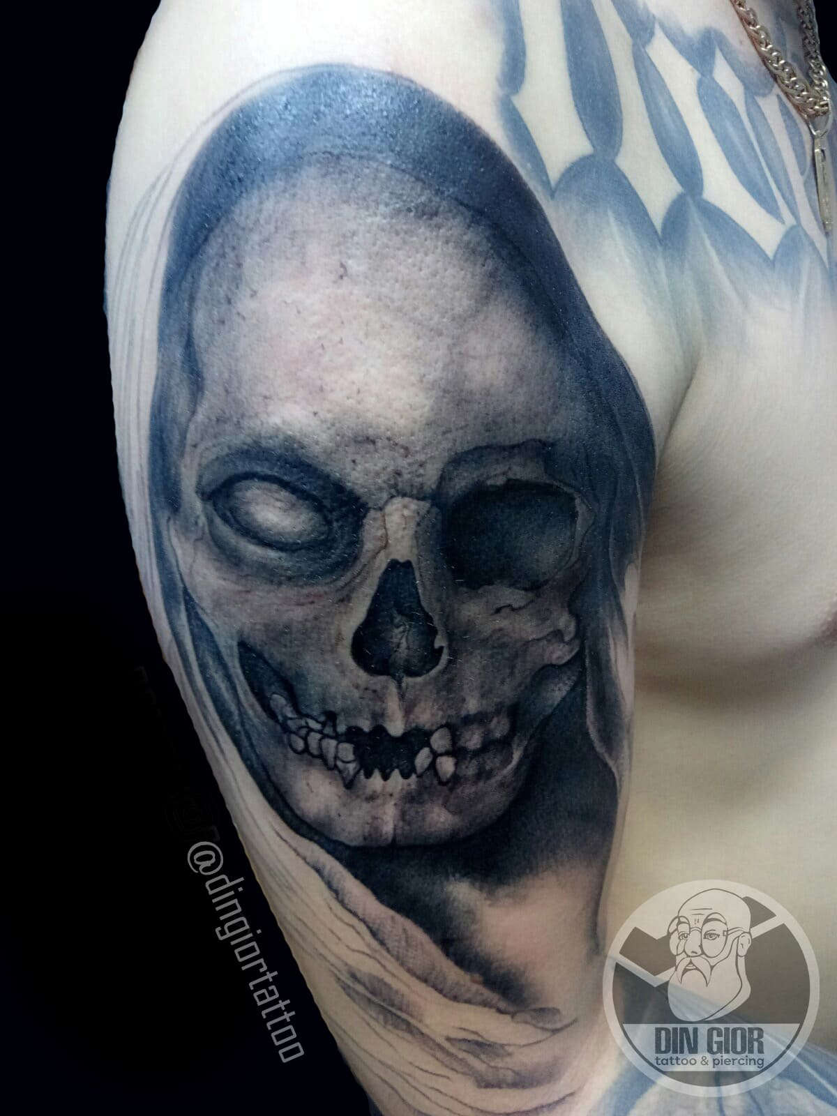 Skull Tattoo Blackwork