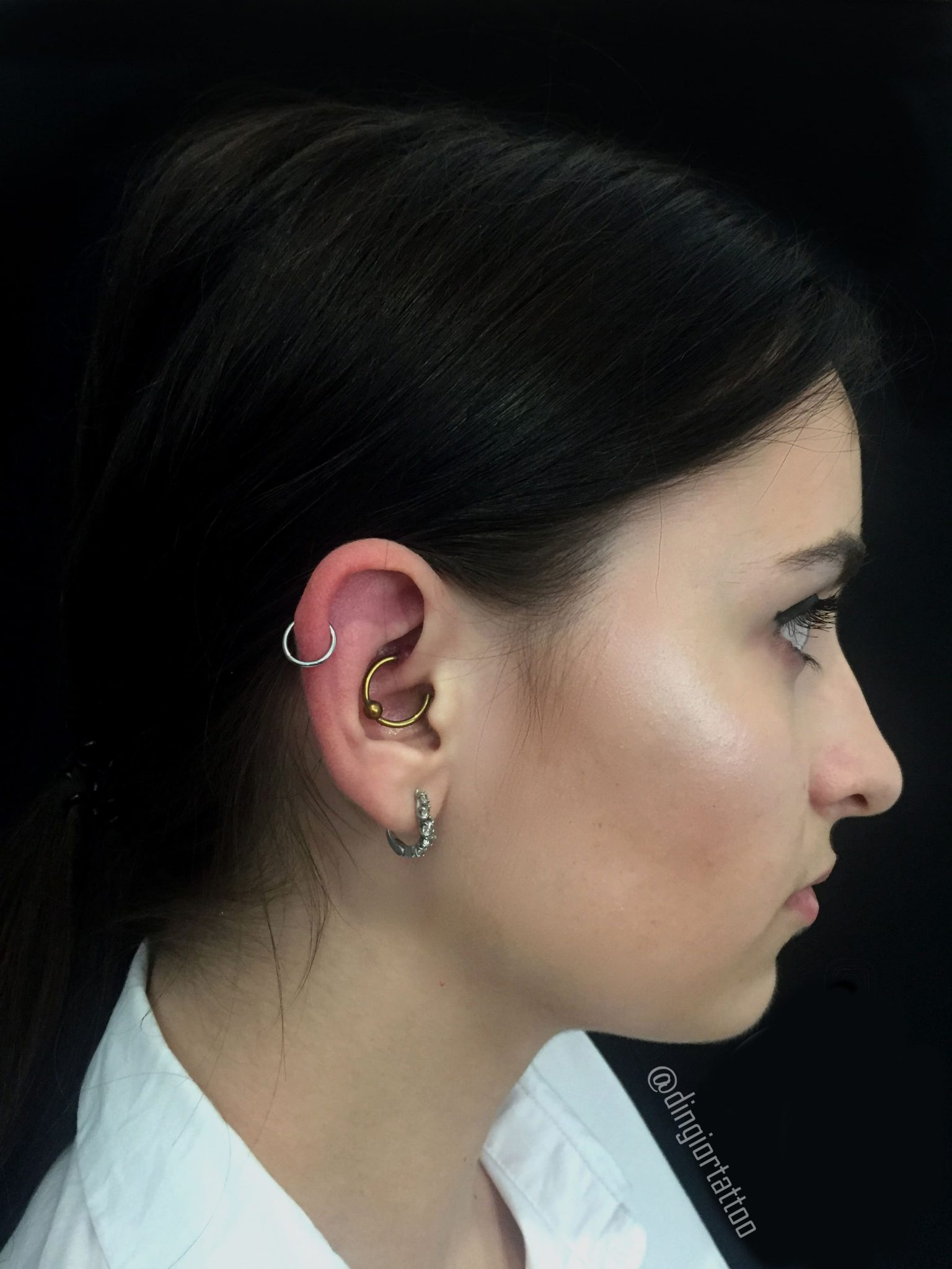 piercing Ruck Helix and lobe