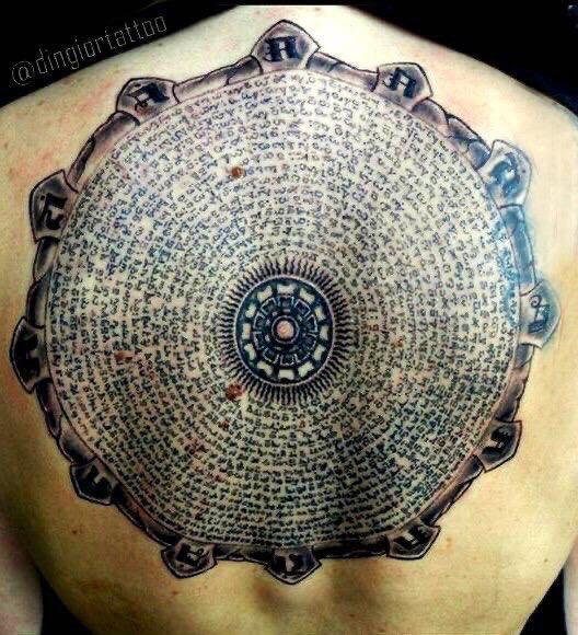 Tattoo Lettering Mandala