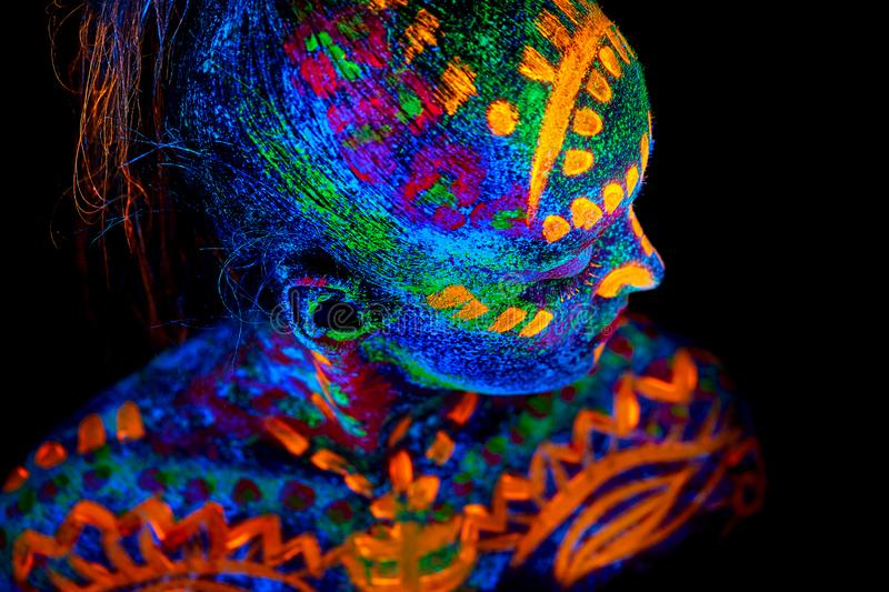 uv-body-art-painting-helloween-female-african-warrior-orange-uv-body-art-painting-helloween-female-african-warrior-160317274